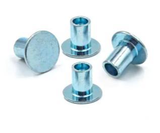 Stahl-Flachkopfverzinkung Halbröhren-Hohlniet